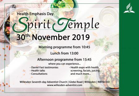Spirit Temple – Health Emphasis Day