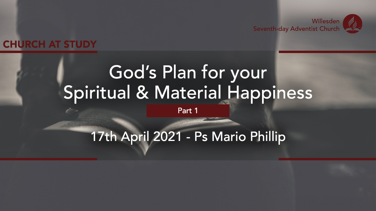 God's Plan For Your Spiritual & Material Happiness (Part 1)